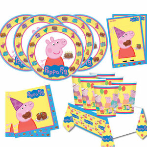 PEPPA-PIG-Birthday-Party-Range-Tableware-Banners-Balloons-Supplies-Decorations