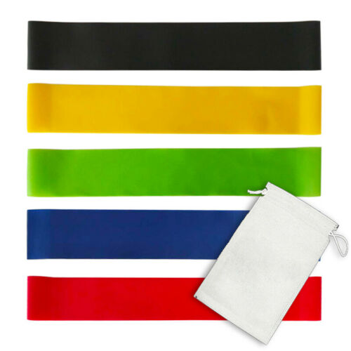 Resistance Bands Exercise Sports 5PCS Loop Set Fitness Home Gym Yoga Latex UK