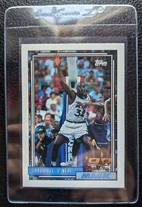 1992 93 TOPPS 362 SHAQUILLE O'NEAL ROOKIE CARD RC ORLANDO MAGIC HOF