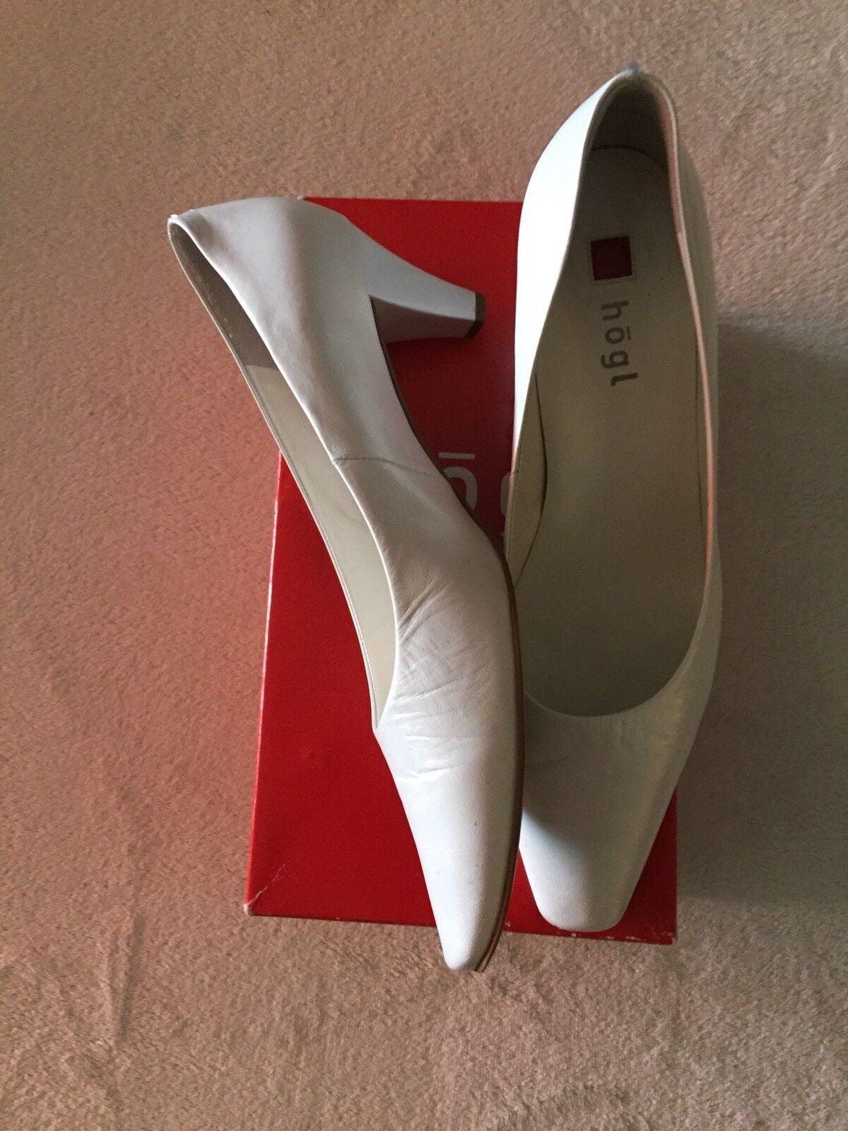 Högl Brautschuh / Pumps, Farbe weiß, Größe elegant, Absatz 6,5 cm, Größe weiß, 39/40 - NEU 83413a