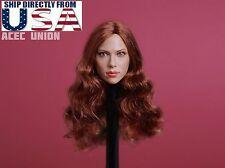 1/6 Scarlett Johansson Black Widow 7.0 Head Sculpt A For Hot Toys Phicen U.S.A.
