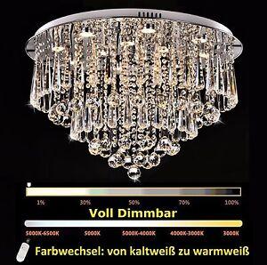 70cm dimmbar led kristall kronleuchter deckenlampe deckenleuchte h ngeleuchte ebay. Black Bedroom Furniture Sets. Home Design Ideas