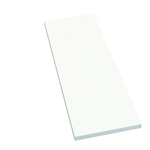 4K umleimt Regalboden Regalbrett weiß 2000x600x16mm gerade Kante