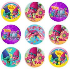 24 TROLLS Edible Cupcake Fairy Cake Toppers Rice Paper decoration Birthday party