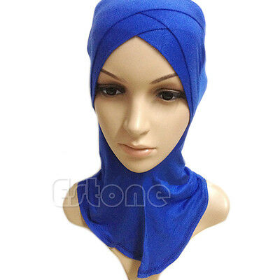Underscarf Colors Cotton Full Cover Inner Muslim Cap Hijab Islamic Head Wear Hat