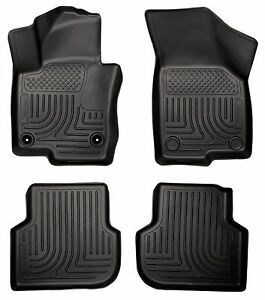 Husky-Liners-WeatherBeater-Floor-Mats-4pc-98831-VW-Jetta-2011-2017-Black