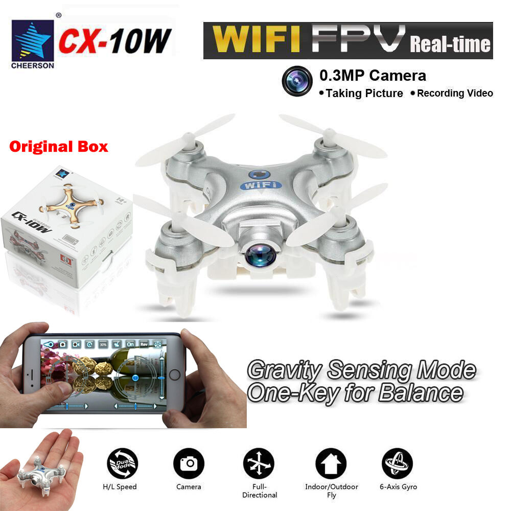 Cheerson mini - cx-10w 2.4ghz 6 - achs - rc quadcopter mit hd - kamera wifi - drohne
