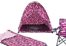 Kids Tent Set Camo Design New Indoor Outdoor Sleeping Bag Chair Imaginative Fun  sc 1 st  eBay & Kids Dome Tent Set Camo Outdoor Camping Folding Chair Sleeping Bag ...