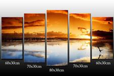 DEKOART LANDSCHAFT WANDBILD Sonnenuntergang LEINWAND BILD 150 cm x 80cm