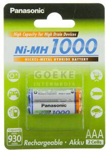 Panasonic Bk-4hgae 1000mah Für Zahlreich In Vielfalt Z.b 2 Stück Begeistert Akku Standard Micro Aaa