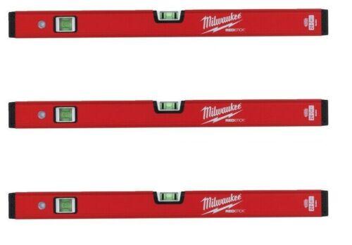 Milwaukee Wasserwaage REDSTICK Compact 61 cm 3 Stück