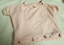 DOG or PET PINK SHIRT WITH ROSETTES SEWN ON TOP AND BOTTOM