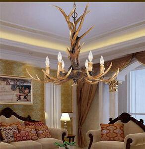 Image Is Loading Romantic Candle Antler Chandelier Resin Deer Horn Lamps