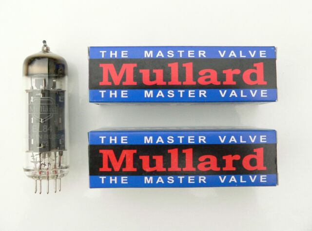 EL84 Mullard Matched Pair valves for Marshall Vox AC15 amplifier reissue tube
