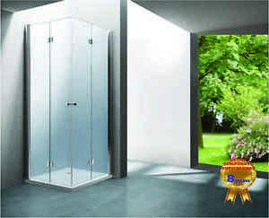 Box cabina doccia color acciaio smeraldo mm vetro cristallo