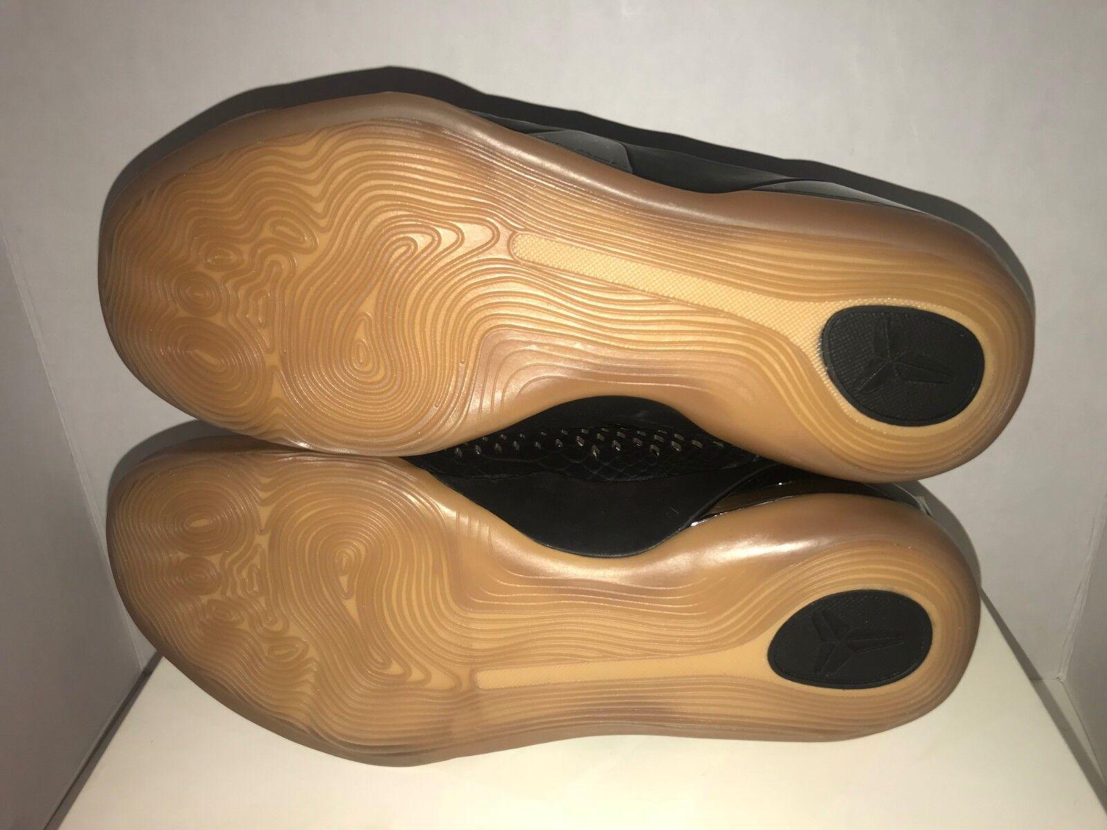 Nike kobe 9 mitte ext ext ext qs schlangenhaut schwarze kaugummi   11 12 ds 704286 001 945f62