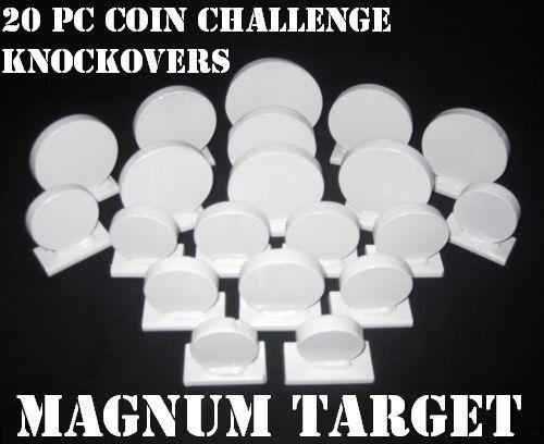 Coin Challenge Knock-Off-Acier Shooting Targets .22LR Rim-Fire /& pistolet 20pc