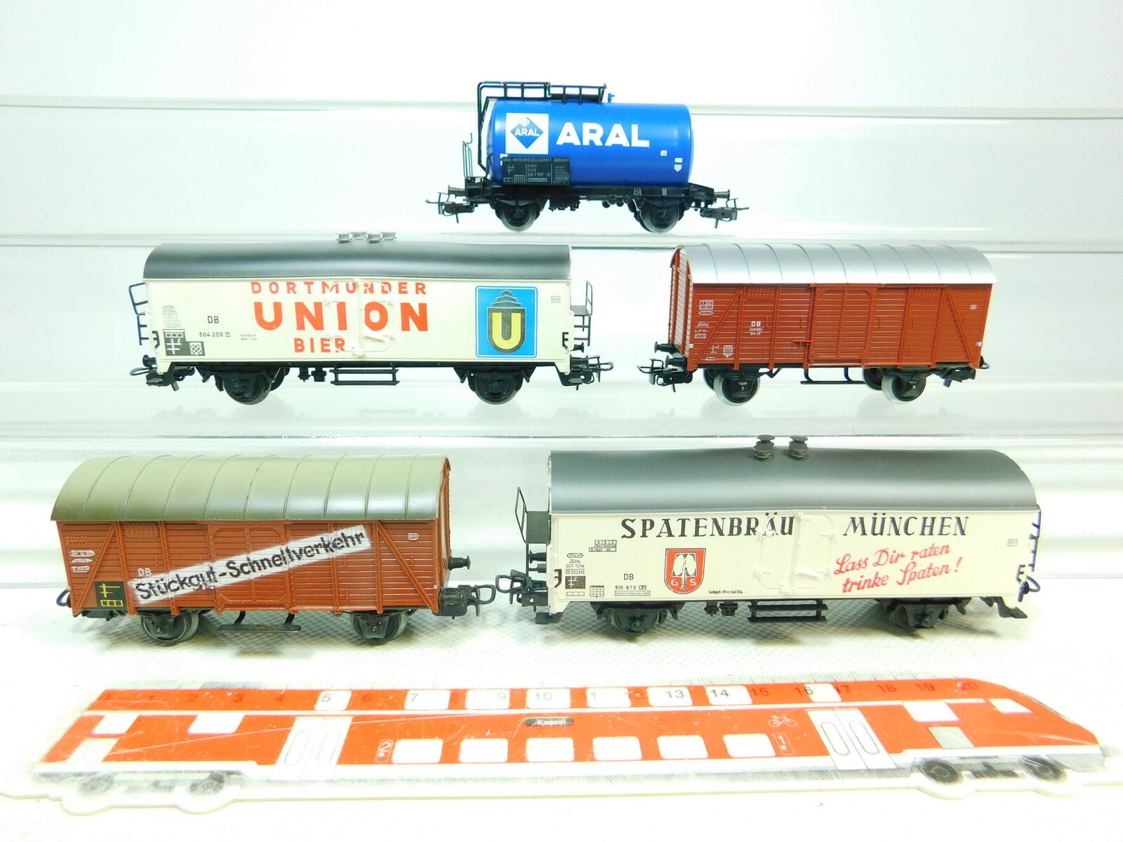BU550-1 x Märklin   Primex H0   Ac Wagon de Marchandises Db   4542 + Aral +