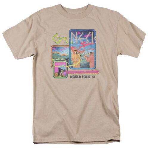 Authentic Genesis World Tour /'78 1978 Concert Poster T-shirt S M L X 2X 3X top