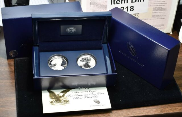 2012-S Silver American Eagle - 2 Coin Set Reverse Proof & Regular Proof