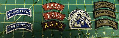Niemes Oppugnamus Et Montes Superamus & Expert Scout & RAPS patch lot - Unused