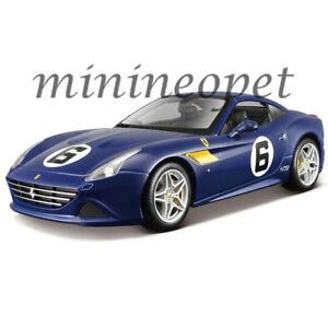 Bburago Ferrari California T Blue Sunoco #6 70th Anniversary 1//18 Diecast Model Car by 76104