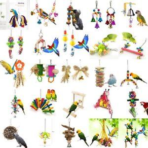 30-Models-Parrot-Hanging-Chew-Wooden-Bite-Toys-Swing-Cockatiel-Parakeet-Bird-amp-Toy