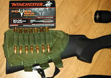 Buttstock Shotgun Rifle shell holder & Cheek Rest Pouch - Olive Drab OD Green