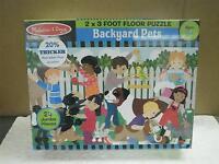 Melissa & Doug- 4422 Backyard Pets 2' X 3' Floor Puzzle-