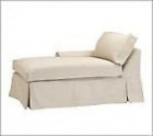 Pottery Barn Basic Lf Arm Chaise Slipcover Brownstone