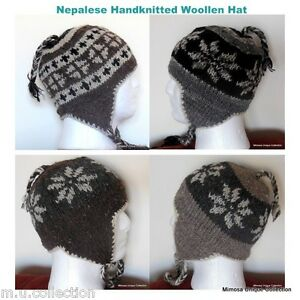 c0e27dc85b1 Beanie Knitted Nepalese Handmade 100% Wool Soft Warm Multicolor Hat ...