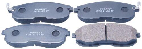 Disc Brake Pad Set-Semimetallic Front Febest 0201-J31F