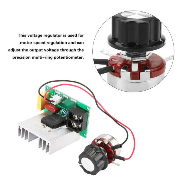 0-220V 8000W High Power SCR Speed Controller Dimmer AC Motor Voltage Regulator R