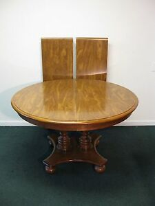 Image Is Loading Ethan Allen Heirloom Maple 48 034 Round Pedestal
