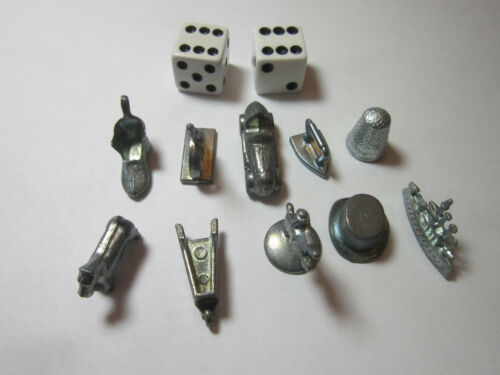 pre 1998  MONOPOLY Game Replacement Parts Tokens Cards Money Hotels *CHOICE*