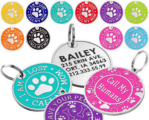 Dog-ID-Tag-Free-Custom-Personalized-Engraved-Enamel-Pet-Puppy-Cat-Name-Charm-S-L
