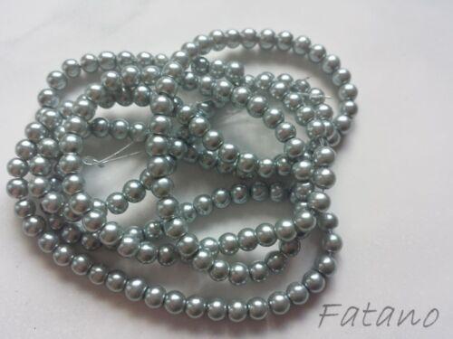 Cuentas de vidrio 4 mm cristal perlas cera plata circa 200 trozo de bricolaje joyas m80