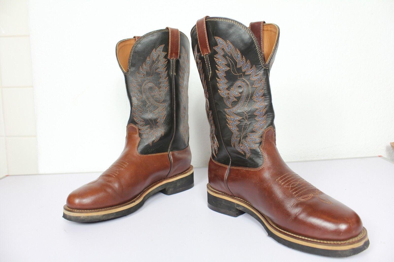 Amazing Western High Stiefel Cowboystiefel Bikerstiefel Echtleder Mehrfarbig Eu 41