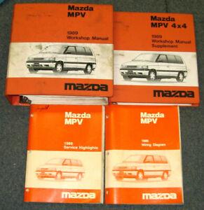 1989 Mazda MPV Van + 4 X 4 Service Workshop Wiring ...
