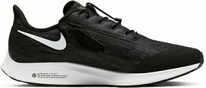 Men-039-s-Nike-Air-Zoom-Pegasus-36-flyease-Baskets-BV0613-001-T-6-Uk-Noir-Entierement-neuf-dans-sa