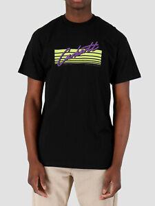 CARHARTT-T-Shirt-Black-Nera-Mezza-Manica-Uomo-Casual-Girocollo-HORIZON