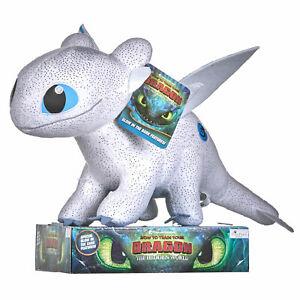 "How to train your Dragon The Hidden World 8/"" Plush Lightfury-NIP"