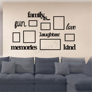 3d Family Tree Photo Picture Frame Acrylic Set Collage Wall Art Home Party Decor Ebay