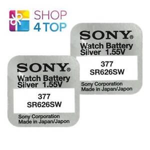 2-SONY-377-SR626SW-BATTERIES-SILVER-OXIDE-1-55V-WATCH-BATTERY-EXP-2021-NEW