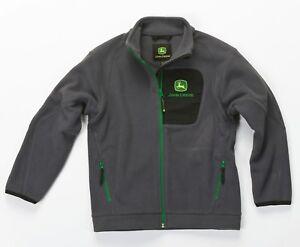 John-Deere-Dark-Grey-Children-039-s-Fleece-Jacket