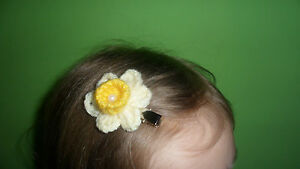 HANDMADE-CROCHET-DAFFODIL-HAIR-CLIP-10-MARIE-CURIE-CANCER-CARE