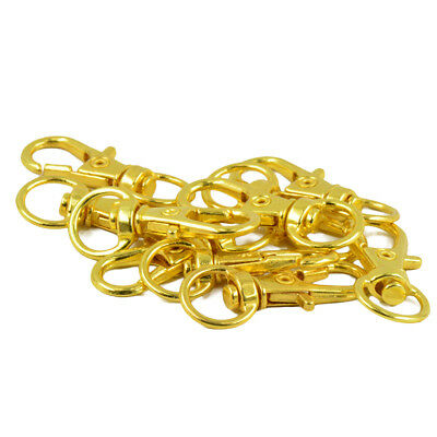 20pcs Gold Swivel Trigger Clips Snap Hooks Lobster Clasp Keychain DIY Craft