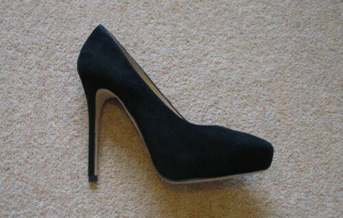 b54c8f01a58 2 sur 10 BNWB AllSaints Cigarette Black Suede Stiletto Heels UK7.5 (fits as  UK7) RRP
