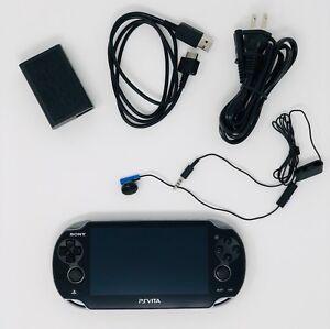 Sony-PS-Vita-OLED-WiFi-Black-w-Charge-Adapter