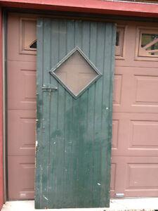 details about antique wood storm door shed basement